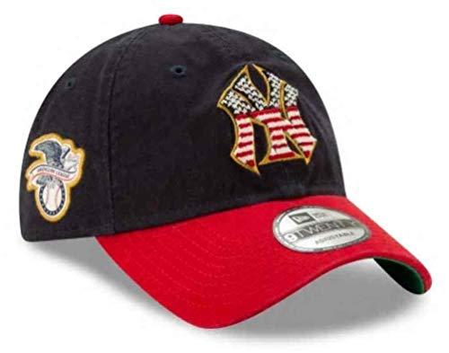 New Era Men's New York Yankees Navy/Red 2019 Stars & Stripes 4th of July 9TWENTY Adjustable Hat]()