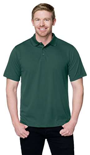 Tri Mountain Performance K020 Mens 100  Polyester Knit S S Golf Shirt   Forest Green   3Xl