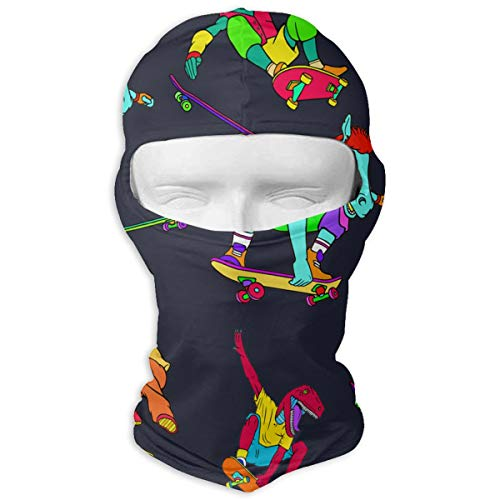 (Northern Nebula Skateboard Dinosaur Balaclava - Windproof Ski Mask - Motorcycle Full Face UV Protection Mask)