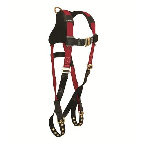 FallTech 7008B, Tradesman Plus Non-Belted Body Harness, UniFit, Buckle Legs and QC Chest, Pack of 2 pcs -
