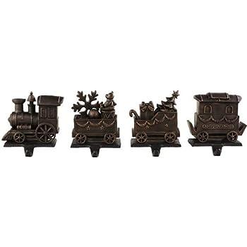 train stocking holders set of 4 set of four. Black Bedroom Furniture Sets. Home Design Ideas