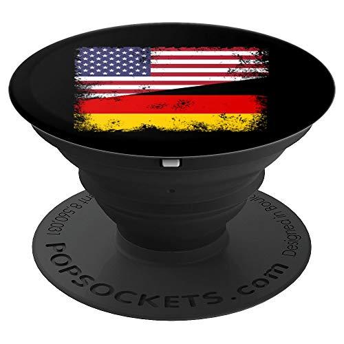 Half German Flag Design | Vintage Germany USA