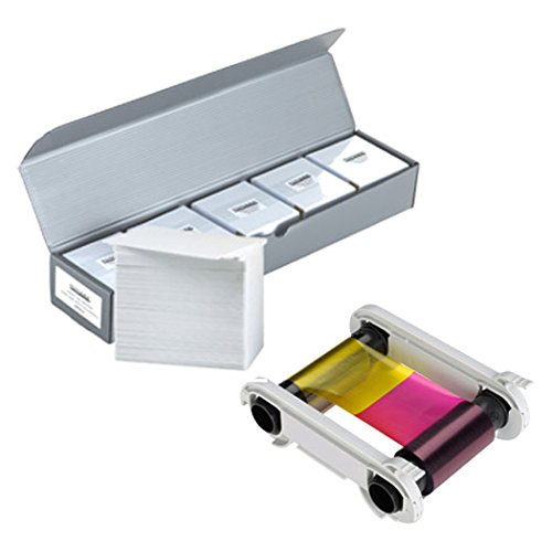 Evolis R5F002AAA YMCKO Color Ribbon + 500 PVC Cards ()