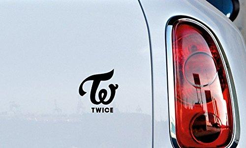 TWICE Logo Text small Car Vinyl Sticker Decal Bumper Sticker for Auto Cars Trucks Windshield Custom Walls Windows Ipad Macbook Laptop Home and More - Symbol Glasses Text