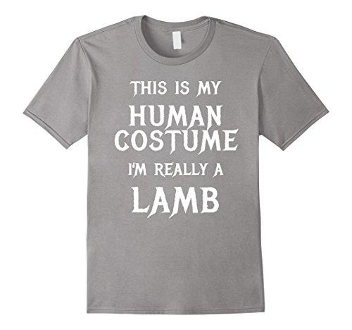 Little Lamb Halloween Costume (Mens I'm Really a Lamb Halloween Costume Shirt for Men Women Kids 2XL Slate)