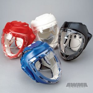 ProForce Headguard With Mask - Red - Medium