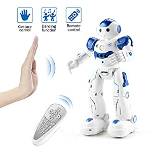 EAHUMM Rc Robot Toys for Kids Rechargeable Intelligent Programmable Robot with Infrared Controller, Remote Control Robots Gesture Sensing Robot for Boys. 41hrRHbCr6L