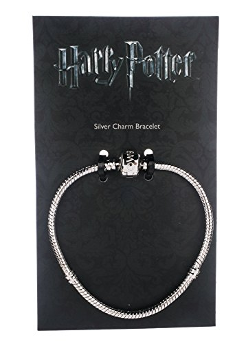 Small 18cm Official Harry Potter Jewellery Silver Charm Bracelet for Harry Potter Slider Charms Available in 4 sizes (18 (Harry Potter Shop)