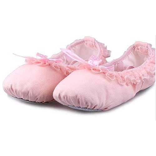 Femmes Danse Pour lin Escarpins Unie Janes Chaussures Mary Ballerines Day Adultes Rose Toile Couleur Classique De v8nwN0m