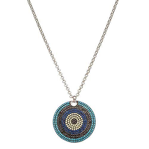 Evil Eye Necklace Blue