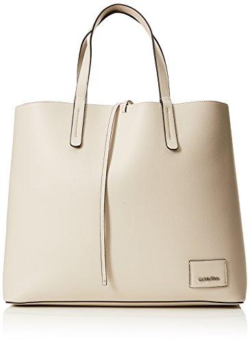 Cabas Blanc Cement Light Reversible Calvin Gold Ck Shopper Klein q1Z6XIWU