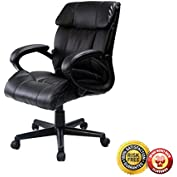 New PU Leather Ergonomic High Back Executive Best Desk Task Office Chair Black