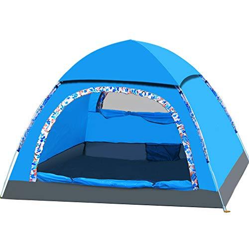 YANKK Outdoor Pop Up Dome Tent, 3 Person, Windproof and Waterproof PU 3000mm, 3-4 Season, for Trekking, Outdoor…