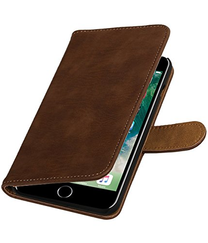MobileFashion Écorce Book Cases pour Iphone 7 plus Portefeuille Case Cover Booktype avec Slots pour cartes et support