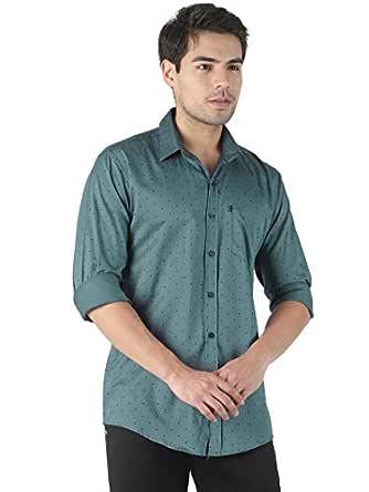 LEVIZO Men's 100% Cotton Designer Printed Full Sleeves Regular Fit Shirt