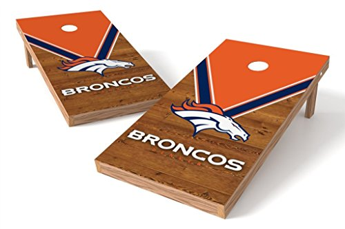PROLINE NFL 2'x4' Cornhole Board Set - Uniform Design, Denver (Denver Broncos Nfl Uniform)