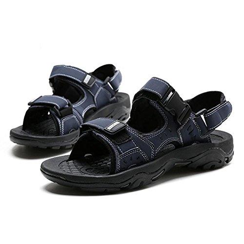 Da Blu Sandali Nero dimensioni QIDI Spiaggia Blu UK6 Nero Maschio Scarpe 5 PU Colore EU39 EVA Pantofole Aqq0xT1