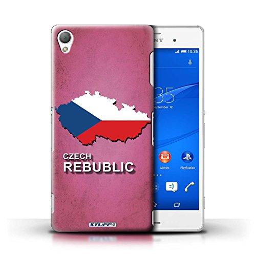 Kobalt® Imprimé Etui / Coque pour Sony Xperia Z3 / Tchèque/Czechian conception / Série Drapeau Pays