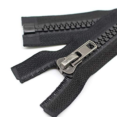 YaHoGa 2PCS 36 Inch #10 Separating Jacket Zippers for Sewing Coats Jacket Winter Coat Heavy Duty Zippers Solid Zipper Large Sturdy Molded Plastic Zippers Bulk (36