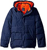 Nautica Boys' Big Water Resistant Signature Bubble Jacket with Storm Cuffs, Sport Navy Small (8)