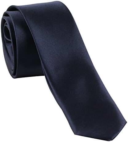 Men's Dark Blue Slim Tie