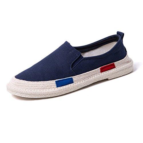 Hombre Liuxueping Temporada Zapatos Masculina Marea Versión Blue Sola Transpirable Lona Pescador Verano Perezosos Coreana Pierna Una De wOqIgdwr