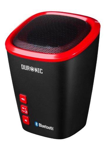 Duronic SPB2 /RD Altavoz + Bass Inalámbrico Portátil – Manos Libres + Microfono – Bluetooth + Puerto AUX