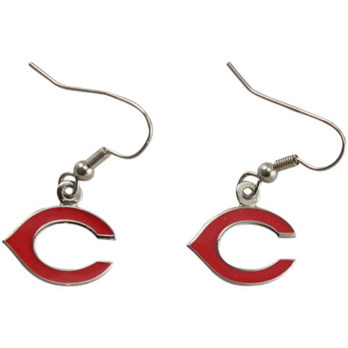 Football Fanatics MLB Cincinnati Reds Ladies Team Logo Dangle Earrings