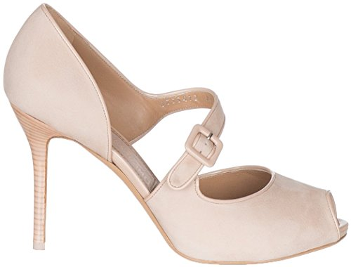 Open Leather Women's Beige Toe Salvatore Shoes Philippa Ferragamo Nubuck Sandals Beige aRqWWXYxO4