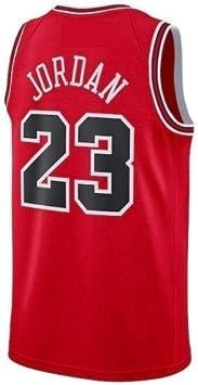 Chicago Bulls Bordado Swingman Transpirable y Resistente al Desgaste Camiseta para Fan #23 Michael Jordan A-lee Camiseta de Baloncesto para Hombre