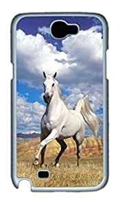 Cool Protective PC Case Skin For Case Samsung Note 4 Cover with Appaloosa Horse (White)