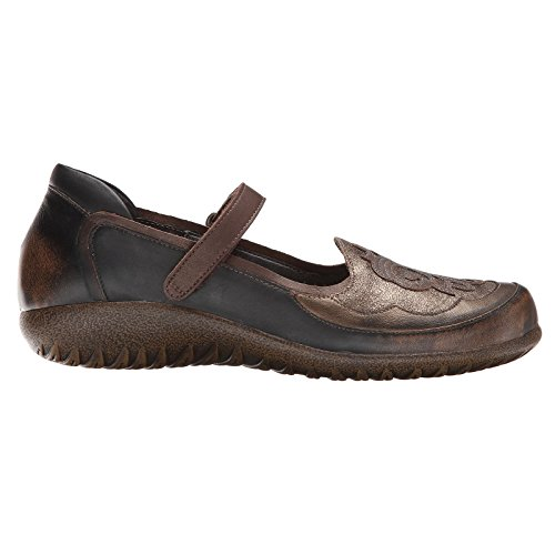 Naot Women's Volcanic Brown Leather/Bronze Shimmer/Gr Motu 7 B(M) - Bronze Footwear Leather