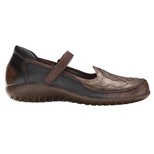 Naot Women's Volcanic Brown Leather/Bronze Shimmer/Gr Motu 7 B(M) - Footwear Bronze Leather
