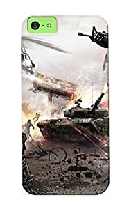 Freshmilk Brand New Defender Case For Iphone 5c (homefront Game War Action Bale Military Tank Weapon Gun ) / Christmas's Gift