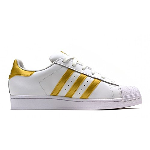 ADIDAS SNEAKERS SUPERSTAR BIANCO ORO BY8757 - 46, BIANCO