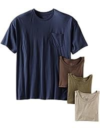 Men's Pocket Crew Neck T-Shirt (Pack of 4) (Assorted...
