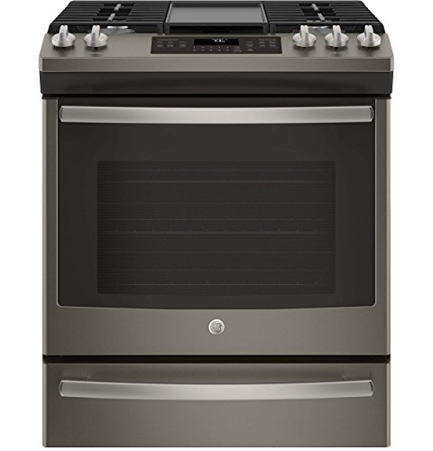 GE JGS760EELES Slate Series 30 Inch Slide-in Gas Range with Sealed Burner Cooktop, 5.6 cu. ft. Primary Oven Capacity, in Slate