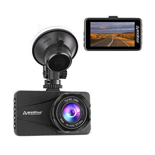 Dash Cam - ANNKOO AD01 Car DVR HD Lens 3.0 Screen Full HD Display 1080P 1296P 170