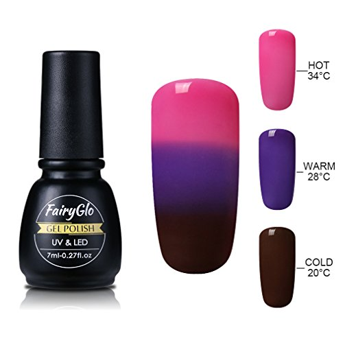 FairyGlo Tri-Thermal Changing Color Gel Nail Polish Soak Off