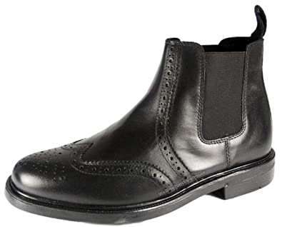 Oaktrak Appleby - Botines chelsea de cuero hombre, color negro, talla 45