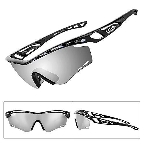 19cab6e8cb3 BATFOX Polarized Sports Sunglasses Memory Metal Glasses Leg for Men Women  Cycling Running Driving Fishing Golf