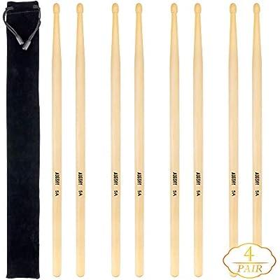 4-pairs-5a-drum-sticks-wood-tip-drumsticks