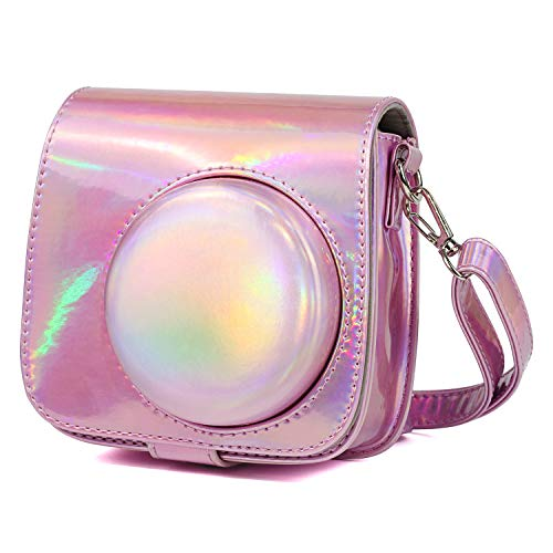 CAIUL Compatible Mini 9 Groovy Camera Case Bag for Fujifilm Instax Mini 8 8+ 9 Camera - Magic Pink ()