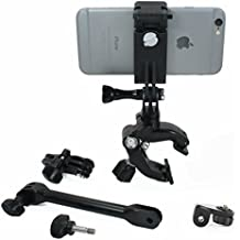 Action Mount - Adjustable 3 Part Clamp System with Locking Smartphone Mount for Video Recording on Gun, Bow, ATV, or Fishing Pole. Versatile Clamp Setup for Outdoorsman. (Hunting Clamp)