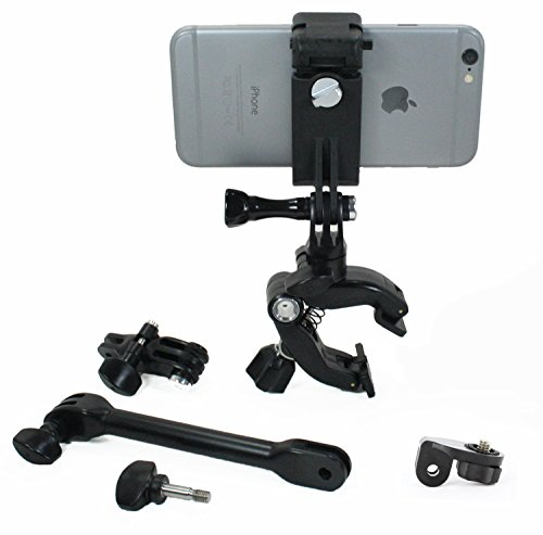 Action Mount - Adjustable 3 Part Clamp System with Locking Smartphone Mount for Video Recording on Gun, Bow, ATV, or Fishing Pole. Versatile Clamp Setup for Outdoorsman. (Hunting - Outdoorsman Style