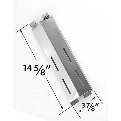[Replacement Stainless Steel Heat Shield for Sams Members Mark M3206ALP, M3206ANG, Patio Range SK472B, CG41064, Patio Chef SS64, SS64LP, SS64NG and Grand Hall MFA05ALP Gas Models] (Coastal 9900 Gas Grill)