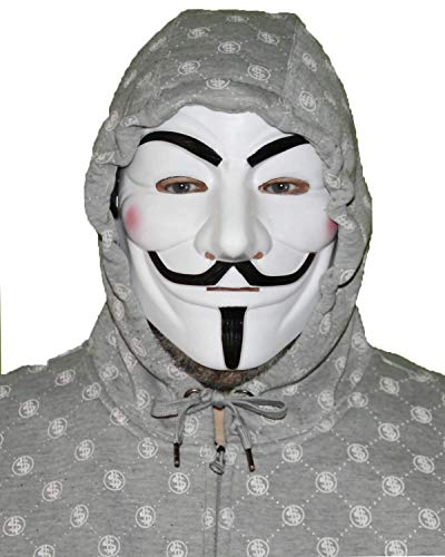 Disrerk V for Vendetta Guy Fawkes Costume Cosplay Mask for Halloween Masquerade Party]()