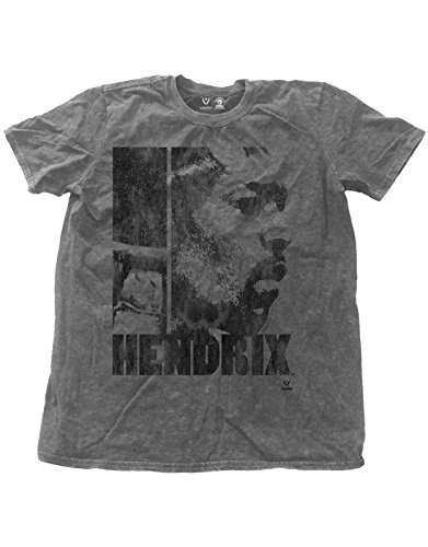 Jimi Hendrix Cap (Jimi Hendrix T Shirt Let Me Live Distressed Official Mens Charcoal Snow Wash)