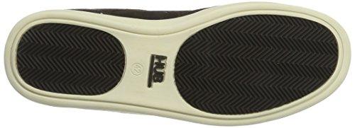 Hub Herren Kingston Mid Original Hohe Sneaker Braun (Dark Brown/Off White)