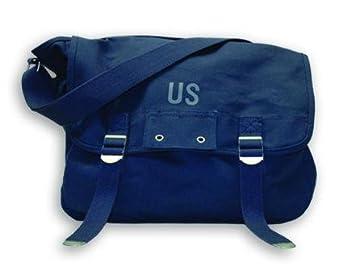 237521ebf9 Planet Vintage - Sac besace à bandoulière - Modèle US - Bleu marine ...